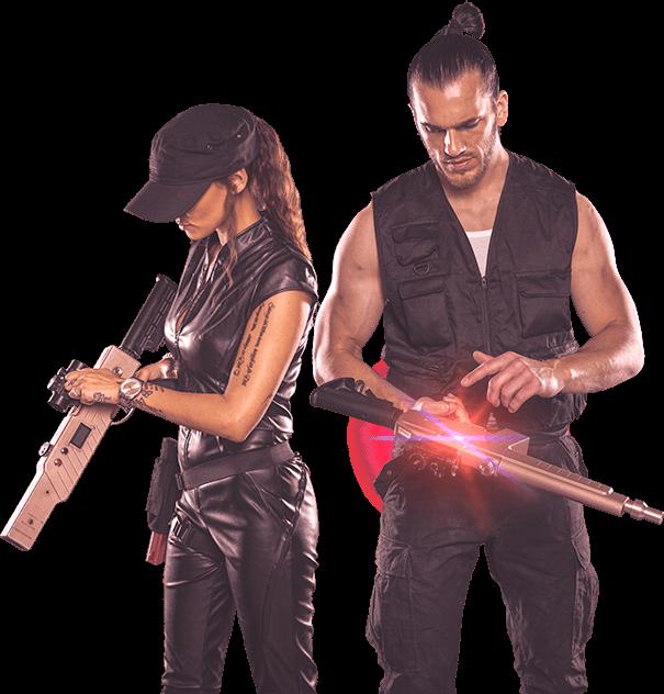 Sweety Fire und BlackX IR Lasergame Unterpleichfeld